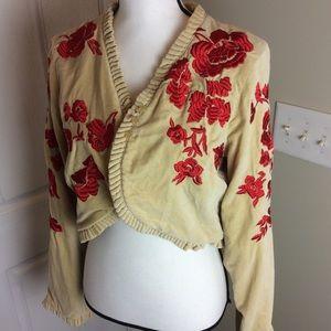 Anthropologie odille embroidered jacket